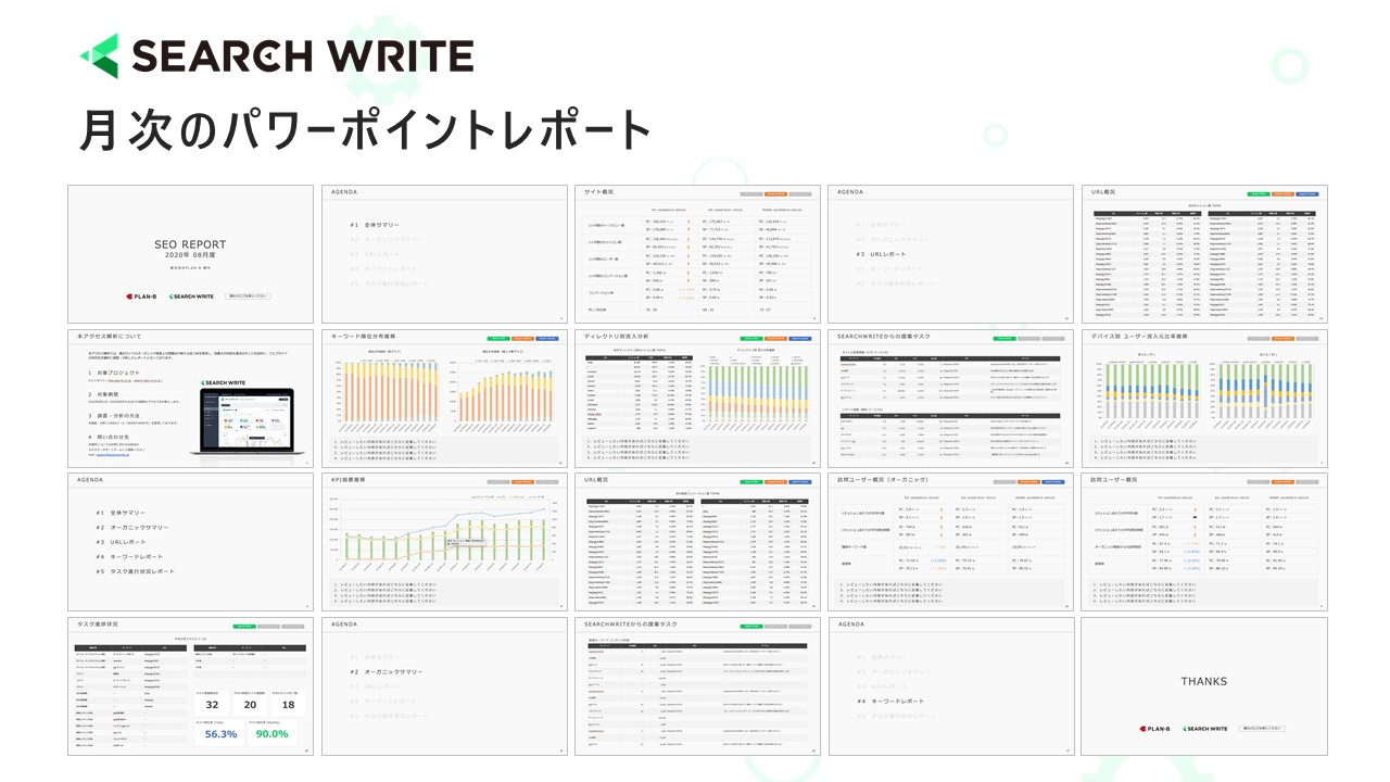 SEARCH WRITEパワーポイント機能